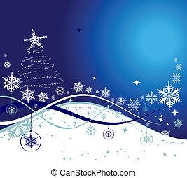 feriado christmas, fundo, vetorial, ilustração, para, seu, desenho