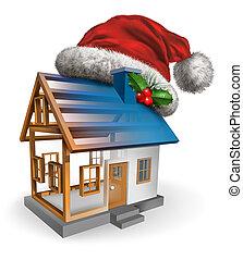 feriado, construção, inverno