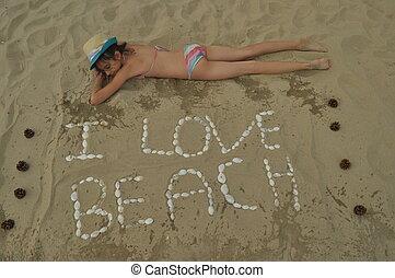 feriado, em, a, sea., família, com, crianças, ligado, a, praia., mar, e, lake., turismo, e, lazer