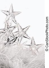 feriado, estrella, luces, con, fondo blanco