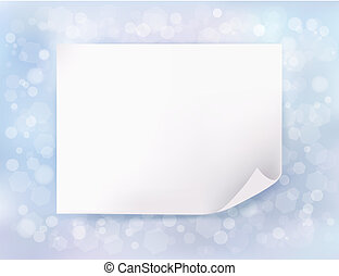 feriado, fondo azul, con, navidad, hoja, de, paper., vector,...