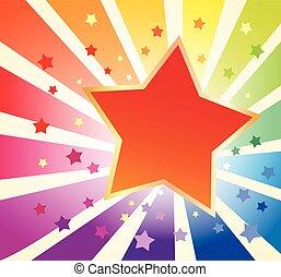feriado, fundo, com, estrela