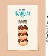 feriado, hanukkah, alimento, buñuelo