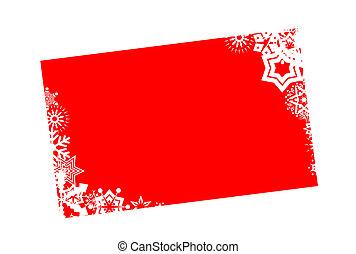 feriado inverno, cartão