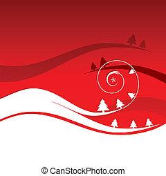 feriado, inverno, cartão, natal