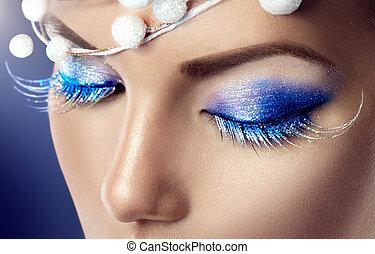 feriado, invierno, Maquillaje, navidad