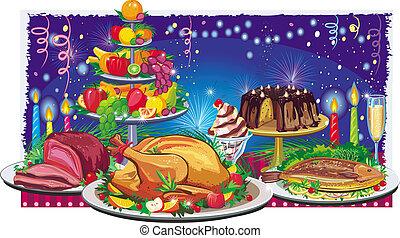 feriado, jantar