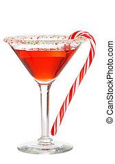 feriado, martini, con, un, azucare caña