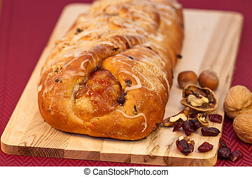feriado, pão fruta
