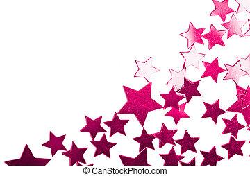 feriado, púrpura, estrellas, aislado