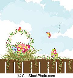 feriado, pascua, primavera, papel pintado