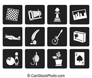 feriado, passatempo, lazer, ícones