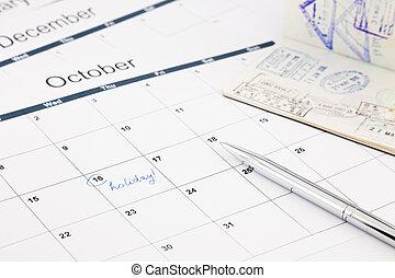 feriado, planificação
