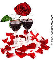 feriado, romanticos, celebração