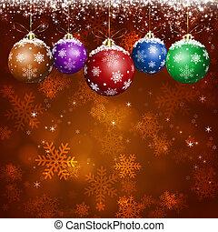 feriado, saudação, xmas, cartão, vermelho