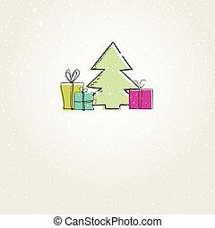 feriado, tarjeta de navidad, elements.