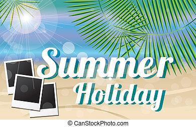 feriado verão, cartão
