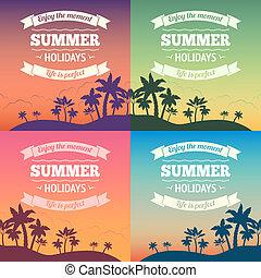 feriado verão, cartaz