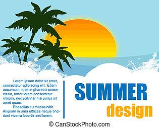 feriado verão, desenho
