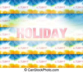 feriado, verano, plano de fondo, gráfico