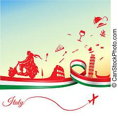 feriados, italiano, fundo