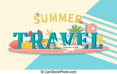 feriados, verão, conceito