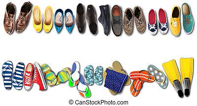 feriados verão, escritório, sapatos