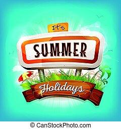 feriados verão, fundo
