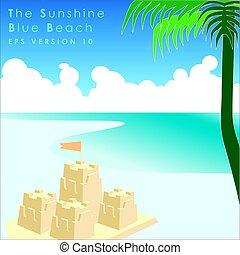 feriados verão, ilustração