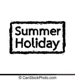 feriados verão, ilustração, desenho