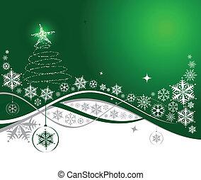 ferie christmas, baggrund, vektor, illustration, by, din,...