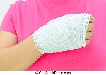 ferimento, mão