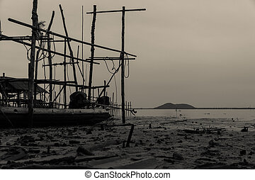 fermé, coast., parc, floor., suivant, eau, peche, mer, bateau