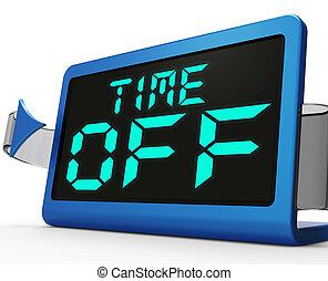 fermé, horloge, étude, travail, temps, vacances, ou, ...