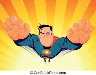 fermé, minage, superhero