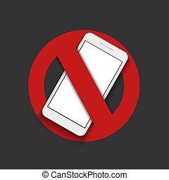 fermé, moderne, -, signe, virage, vecteur, téléphone.