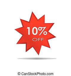 fermé, offre, vente, isolé, escompte, fond, 10%, bannière, spécial