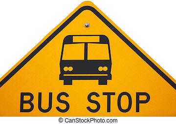 fermata dell'autobus, segno