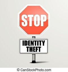 fermata, furto identità