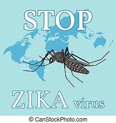 fermata, virus., zika