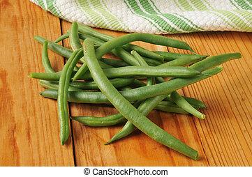 ferme fraîche, haricots verts