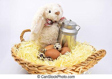 ferme fraîche, produire, lapin pâques
