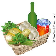 ferme, nourriture, organique