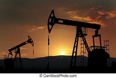 ferme, puits de pétrole