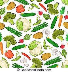 ferme, végétarien, seamless, fond nourriture, frais