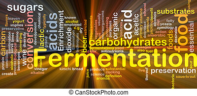 Fermentation process background concept glowing - Background...