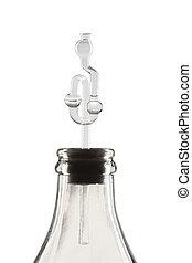 fermentation tube on white background - fermentation tube...