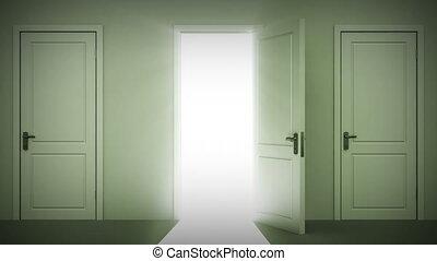 fermer, fait boucle, portes ouvrant