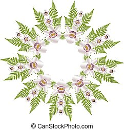 FERN AND ORCHID PATTERN