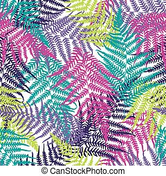Fern frond seamless pattern